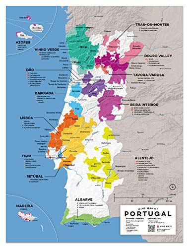 (Wine Folly Portugal Wine Map Poster Print, 12