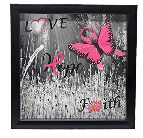 Powers Candy Co., Inc For Your Convenience Breast Cancer Survivor Gift Inspiring Hope | Shadow Box Wall Decor (Pink 3 ()