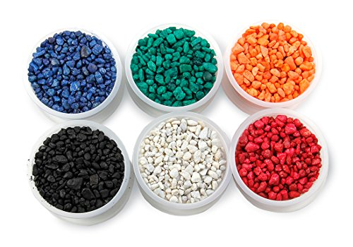 Hygloss Products Aquarium Gravel - Arts and Crafts, 6 oz. Each of 6 Primary Assortment Colors