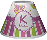 RNK Shops Butterflies & Stripes Empire Lamp Shade (Personalized)