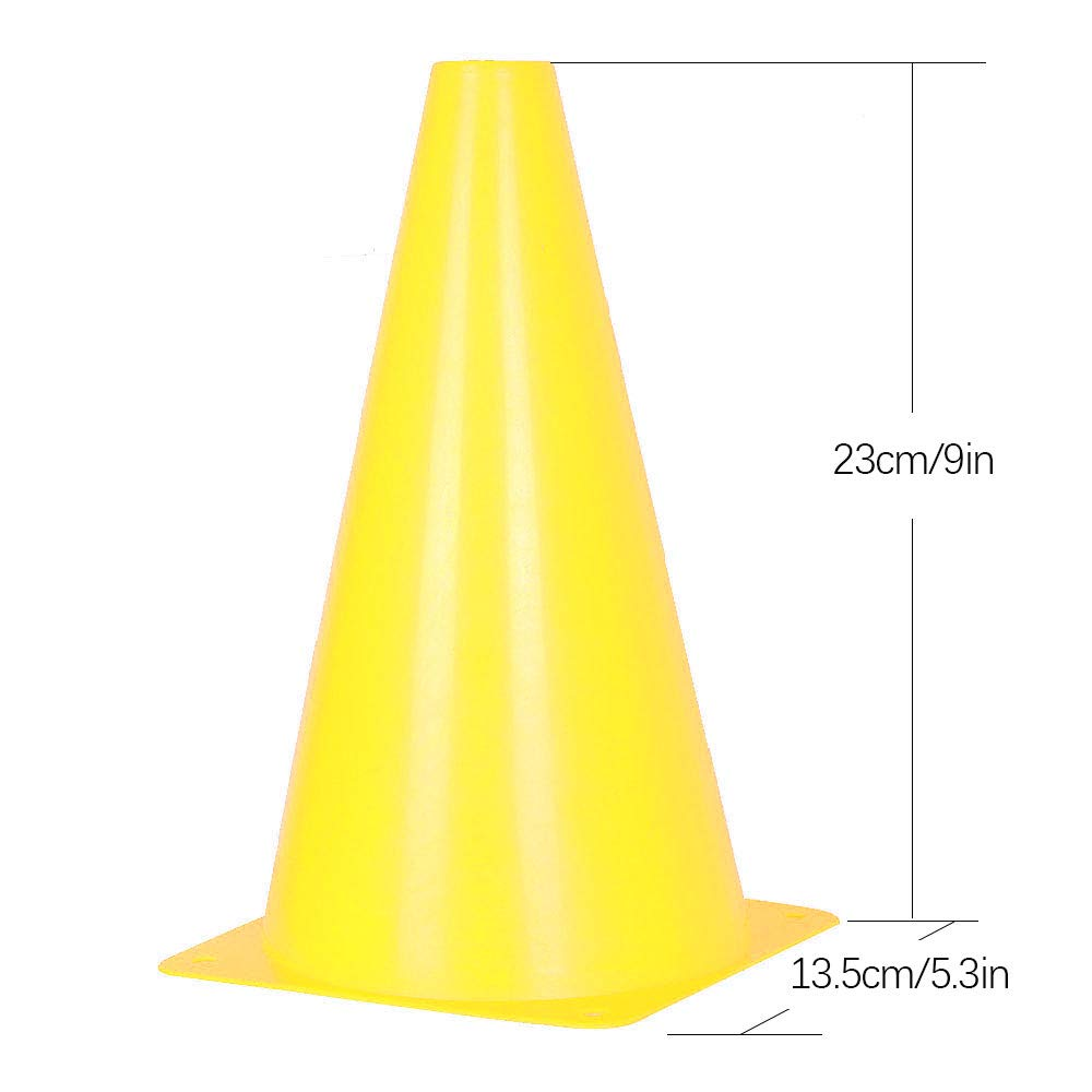 5 Colors 9 inch Traffic Cones 10 Pack of Field Marker Cones for Outdoor Activity /& Festive Events
