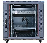 "15U 35"" Depth IT & Telecom Wall Mount Network Server Data Cabinet Enclosure Rack Glass Door Locking + Bonus Free !!!. CDM"
