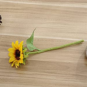 Crt Gucy 6 Pcs Artificial Sunflowers Bouquet For Home Hotel Office Decoration 5