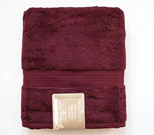 "Royal Velvet Bath Towel - Luxury Royal Velvet Signature Soft Solid Bath Towel - 30x54""- Autumn Burgundy"