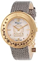 Salvatore Ferragamo Women's FF5050013 Gancino Sparkling Gold Ion-Plated Stainless Steel Mother-Of-Pearl Diamond Watch from Salvatore Ferragamo