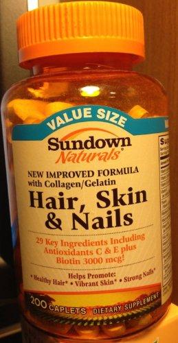 Sundown Vitamines cheveux, peau et des ongles multivitamines Comprimés, 200 Ea