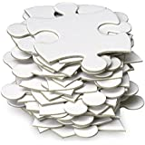 Jigsaw2order Large Blank Puzzle, Wedding Guest Book Puzzle, 70 Large Numbered Blank Puzzle Pieces, Size 18 x 24.5in