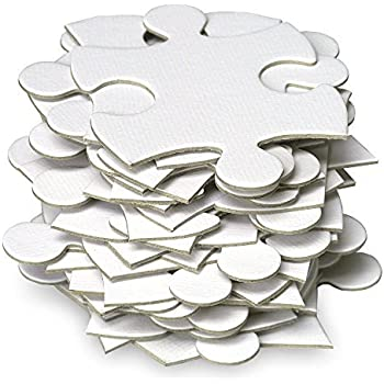 Jigsaw2order Blank Puzzle, 70 Large Numbered Blank Puzzle Pieces, Puzzle Size Size 18 x 24.5 inch, Piece Size approx 3 inches, Wedding Guest Book Puzzle