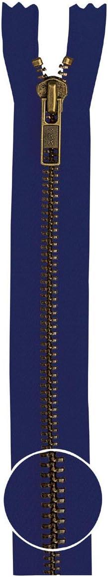 Cremallera YKK metal dorado de 2/V/ías divisible 5/mm 55/cm 58 color azul marino