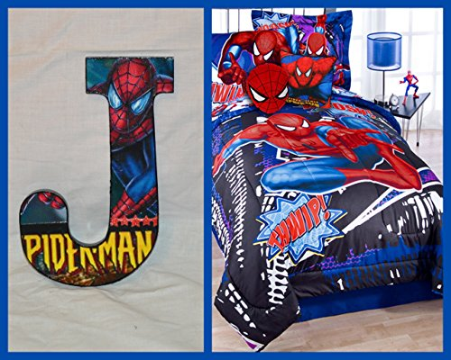 Spiderman Inspired Wooden Letter Décor for wall - Wall Letters Decor Bedding