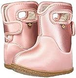 BOGS Kids Baby Waterproof Snowboot, Metallic-Ballet Pink, Size 5