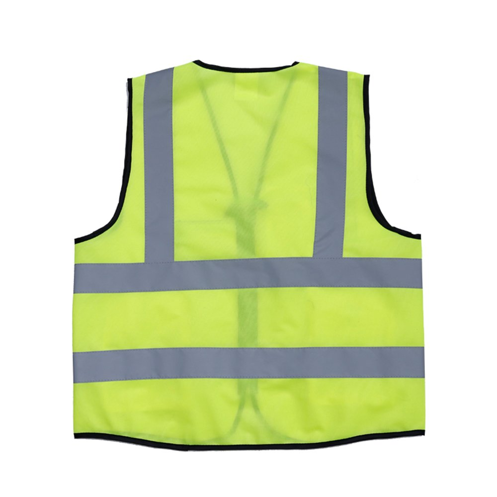 ZOJO High Visibility Reflective Vests,Lightweight Mesh Fabric, Wholesale Safety Vest for Outdoor Works, Cycling, Jogging,Walking,Sports-Fits for Men and Women (Pack of 10, Neon Yellow) by zojo (Image #3)