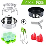 Instant Pot Accessories Set with Steamer Basket Egg Steamer Rack Non-stick Springform Pan Steaming Stand 1 Pair Silicone Cooking Pot Mitts Silicone Egg Bites Molds Foldable Bowl Plate Dish Clip Clamp For Sale