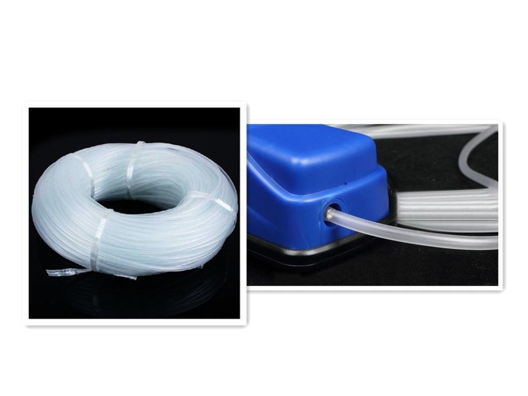 squarex Clearance New 4/x 6/mm pompa ossigeno tubo per aria bolla pietra acquario pompa per laghetto