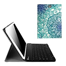Fintie Blade X1 Samsung Galaxy Tab S2 9.7 Keyboard Case Cover - Slim Fit Smart Shell Light Weight Stand with Magnetically Detachable Wireless Bluetooth Keyboard for Tab S2 9.7-inch Table, Emerald Illusions