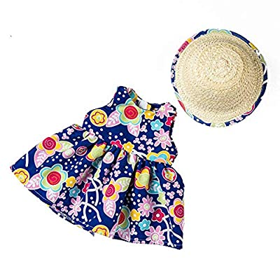 Denzar Doll Clothes for 18 inch,Doll Clothes Outfits for 18 Inch America Girls, Alive Baby Doll Dress Clothes Outfits Costumes Dolly, Beautiful Dress and Hat for Alive Bay Doll (Blue): Home & Kitchen