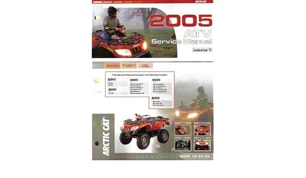 2005 arctic cat 250 300 400 500 650 atv repair manual