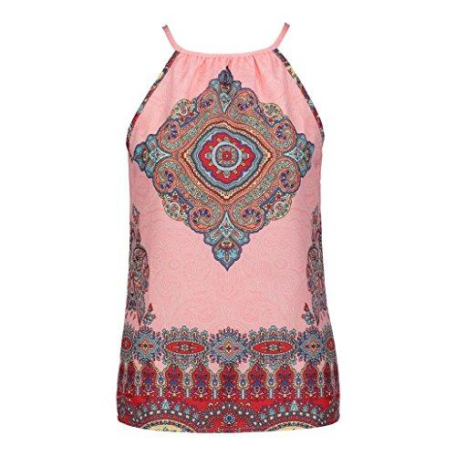 Camicia Vendita Vest A Maglietta Beikoard Summer Lunghe Donna Maniche Da Senza Rosa Beach Calda fEHwqxU6