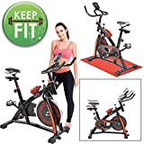 GC Global Direct Fitness Gym Exercise Bike Indoor Training Cycle Color Opt (Black) GC Global Direct