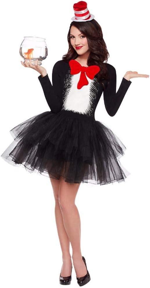 Finebo - Vestido de tutú para mujer, sexy, disfraz gótico, vestido ...