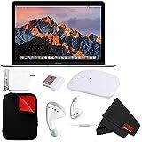 Apple 12 MacBook (Mid 2017 Space Gray) 256GB SSD (MNYF2LL/A) + MicroFiber Cloth + 2.4 GHz Slim Optical Wireless Bluetooth Bundle