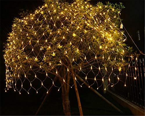 BABIFIS Luz de Red de Pesca LED 2 * 2M Cascada de luz al Aire Libre a Prueba de Agua Decoración navideña Luz Neta de Pavo...