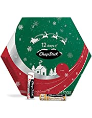 12 Days of ChapStick Holiday Advent Calendar Lip Balm Gift Set, Lip Care - Pack of 12