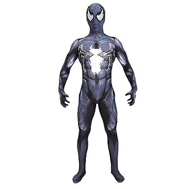 QWEASZER Venom Symbiote Spiderman Cosplay disfraz de Halloween ...