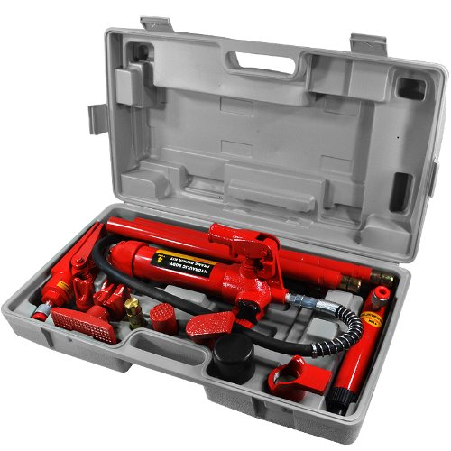 ARKSEN Hydraulic 4 Ton Porta Power Body Frame Repair Kit Auto Body Shop Lift Ram with Portable Case