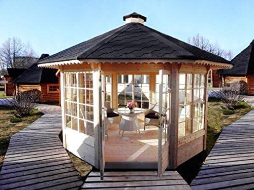Cenador de jardín (10 m2), de madera: Amazon.es: Bricolaje y ...