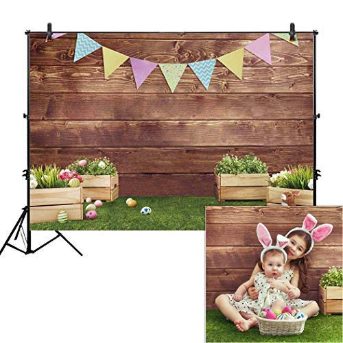 Allenjoy 7x5ft Fabric Spring Easter Backdrops for Girls Photography Wrinkle Free Happy...
