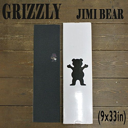 Grizzly Torey Pudwill Bear Skateboard Griptape One Size Brown