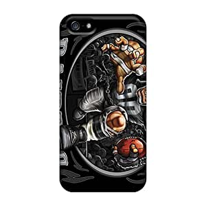Scratch Resistant Hard Cell-phone Case For Iphone 5/5s (BYK15211nGgF) Unique Design Nice Oakland Raiders Series