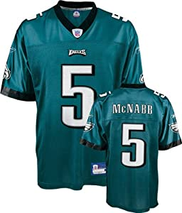 Donovan McNabb Youth Jersey: Reebok Green Replica #5 Philadelphia Eagles Jersey
