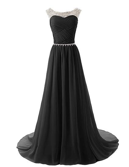Vimans Long Elegant Beaded Chiffon Wedding Dress For Bridesmaid