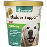 Healthy Bladder Support Supplement for Dogs, Soft Chews with Cranberry, Healthy Bladder Control and Urination, Immune System Support, Made by NaturVet