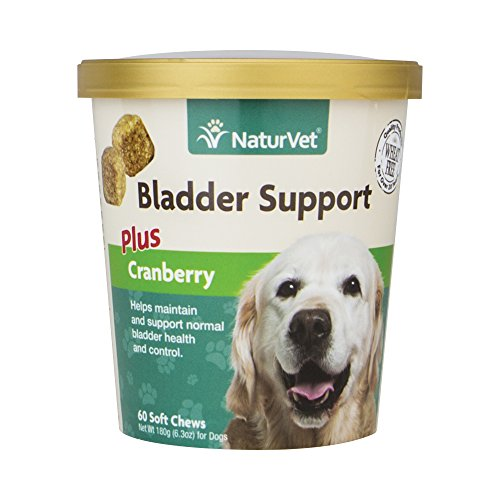 NaturVet Healthy Bladder Support Supplement for Dogs, Soft Chews with Cranberry, Healthy Bladder Control and Urination, Immune System Support, Made by Dog Tablet Vitamins