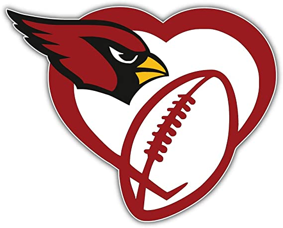 Mascot Sport Decal 5 X 5 Arizona City Cardinalzz Football Die-Cut Sticker