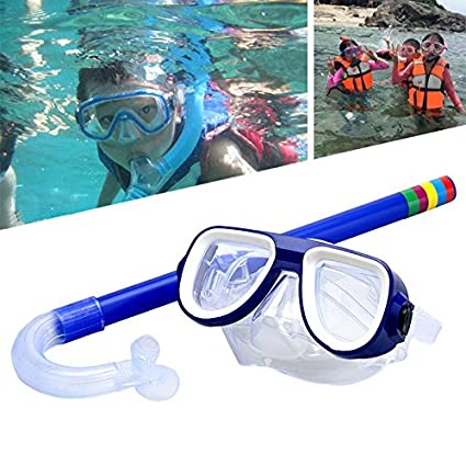 55f369393ab5 Image Unavailable. Image not available for. Color  2PCS SET Child Diving  Snorkeling Scuba Swimming Diving Mask Snorkel Glasses Anti Fog Goggles Set