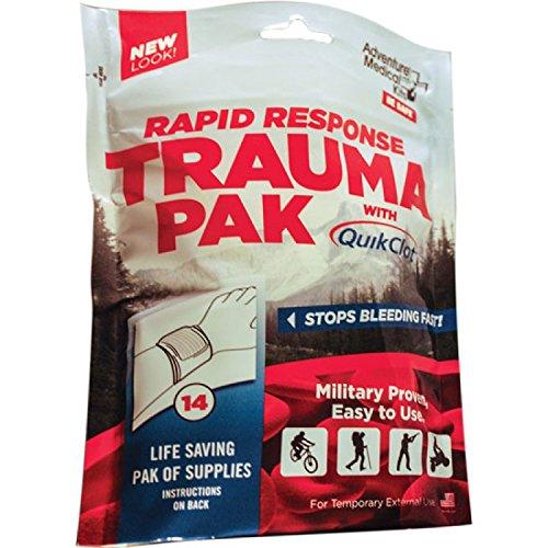 Adventure Medical Kits Rapid Response Trauma Pak First Aid Kit with QuikClot