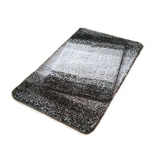 Hihome 2-Pack Floor Mats set, Non-slip Microfiber Doormat Set, 2-Pack Bathroom Mats Shower Rugs for Living Room (16