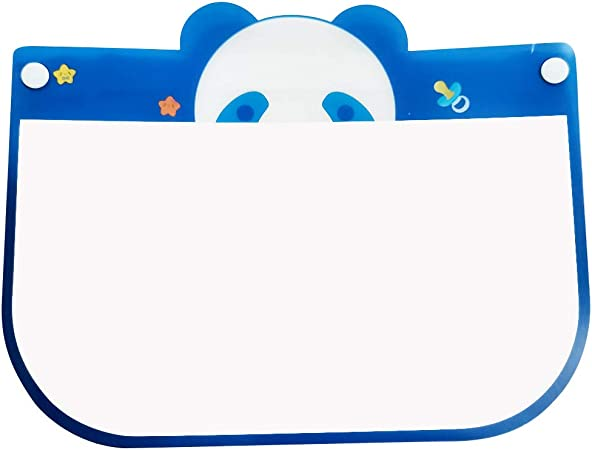 1PC Kids Face S̲h̲i̲e̲l̲d̲ Lightweight Transparent Safety Face Protective Full Face Covering with Elastic Band for Children