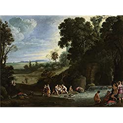 Oil Painting 'Paul Bril Diana And Callisto', 20 x 27 inch / 51 x 68 cm , on High Definition HD canvas prints is for Gifts And Garage, Gym And Powder Room Decoration, cheap large