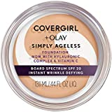 COVERGIRL & OLAY Simply Ageless Instant Wrinkle Defying Foundation Classic Ivory, 0 .4 oz
