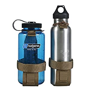 OneTigris Minimalist Tactical Molle Water Bottle Holder Belt Bottle Carrier (Tan)