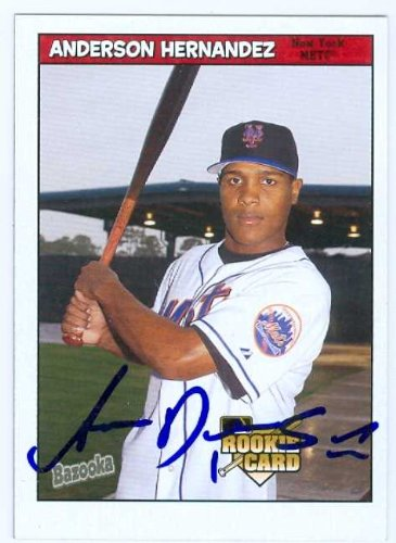 Anderson Hernandez autographed baseball card (New York Mets) 2006 Topps Bazooka baseball card #212