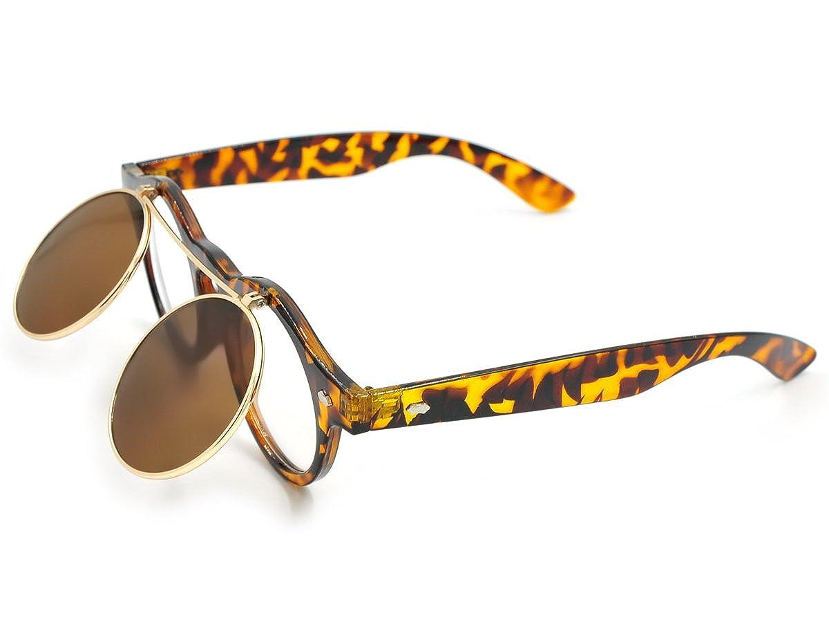 CoolChange occhiali da sole vintage con lenti a meccanismo Flip up nero QS210032