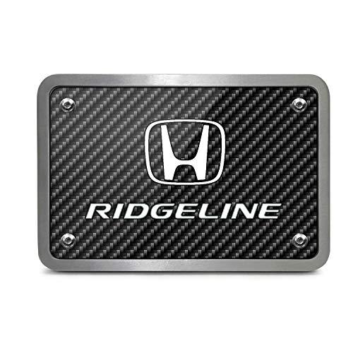 iPick Image Honda Ridgeline UV Graphic Carbon Fiber Texture Billet Aluminum 2 inch Tow Hitch Cover