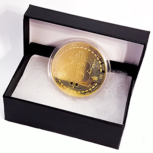 Future BuyZ Gold Plated Bitcoin Coin BTC Token Miner Cryptocurrency Commemorative Collection Limited Edition With Case and FREE Gift Box (1 PC w/Gift Box)