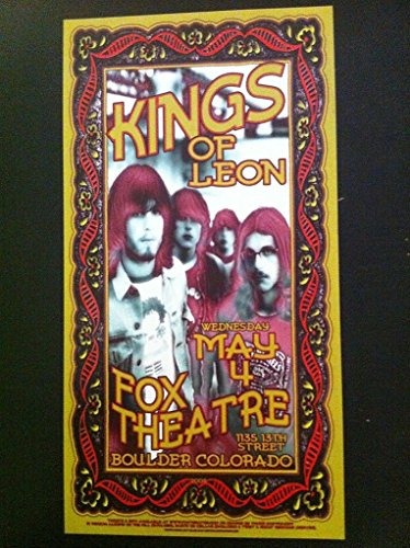 Kings of Leon Nathan Caleb Followill Colorado Fox Theatre Concert Tour Poster from ConcertPosterArt